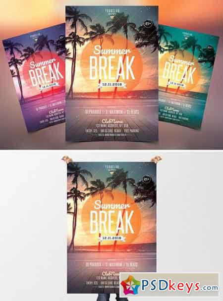 Summer Break - PSD Flyer Template 2380025