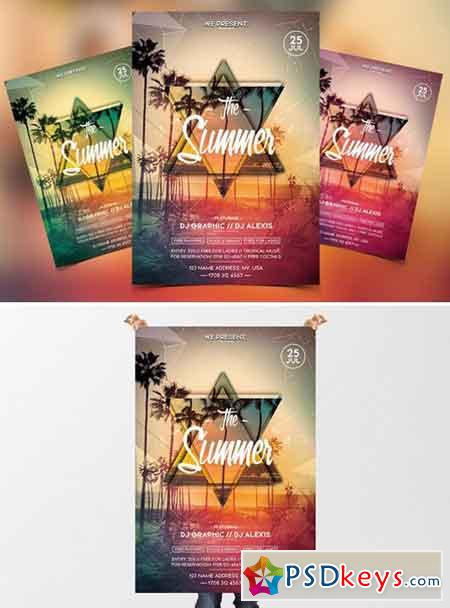 The Summer Party - PSD Flyer 2380038