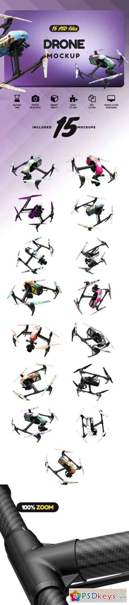 Drone Inspire 2 Mockup 2159442
