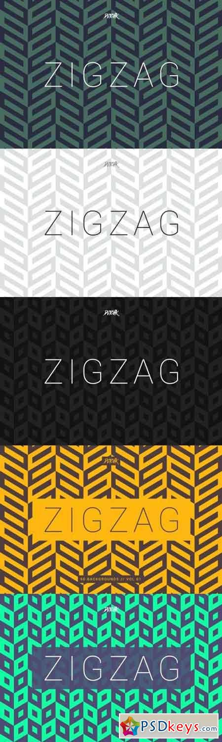 ZigZag Seamless Abstract Backgrounds Vol. 01
