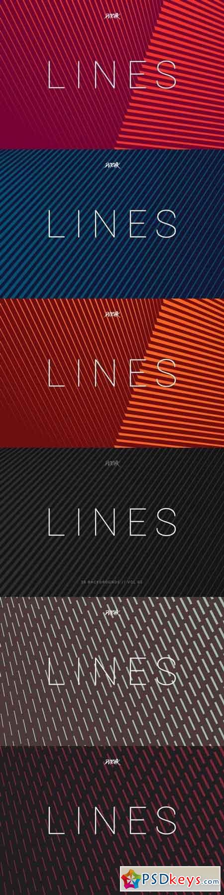 Lines Abstract Stripes Backgrounds Vol. 02