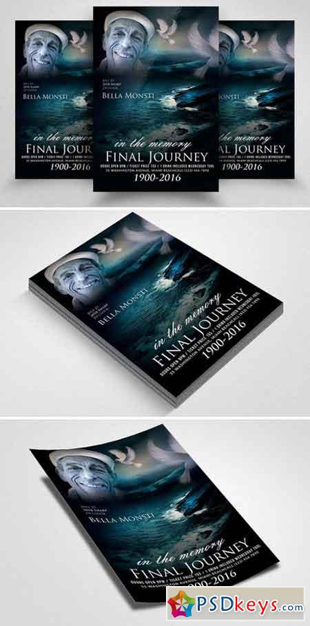 Funeral & Departure Flyer Template 2377683