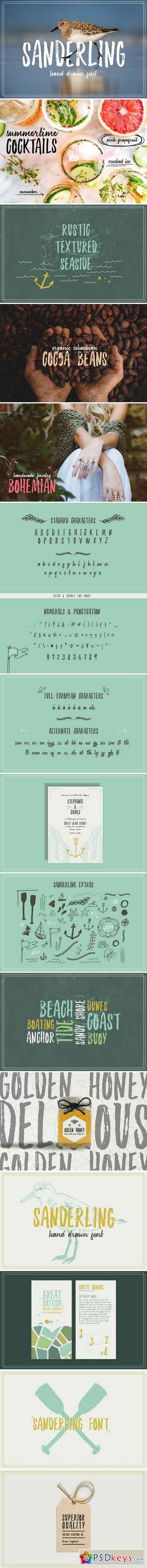 Sanderling Textured Font 2345413