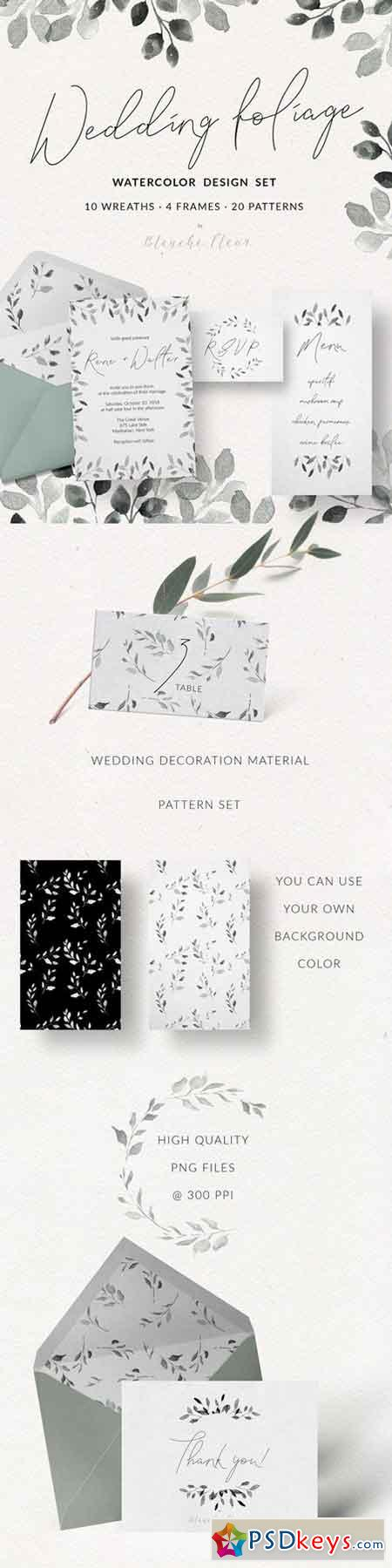 Wedding Foliage Design Set 2378863