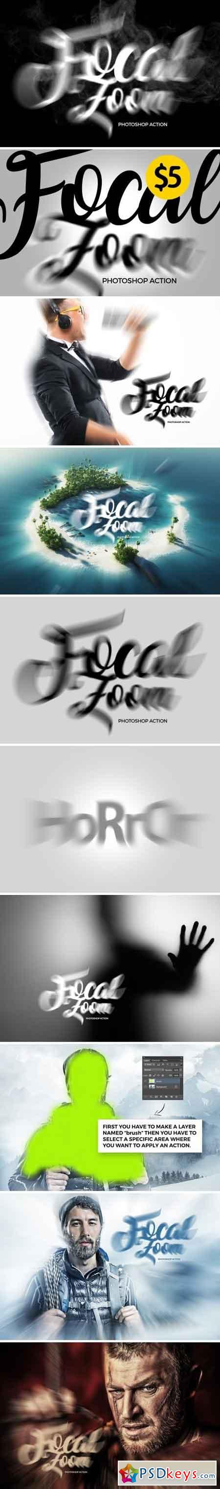 Focal Zoom Photoshop Action 1578439