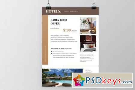 Hotels Resorts Flyer