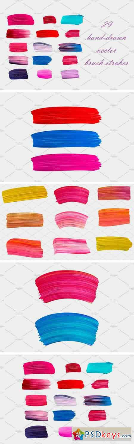 Hand-Drawn Vector Brush Strokes 1729374