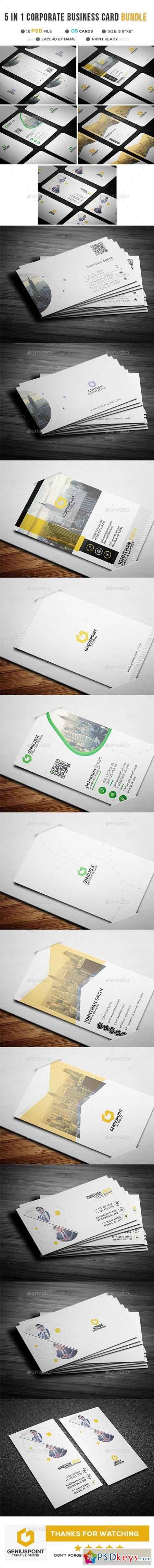 Business cards free download photoshop vector stock image via 5 in 1 borporate business card bundle 21736862 reheart Choice Image