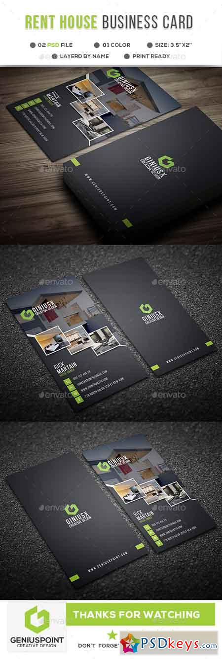 Rent A House Business Card 21736920