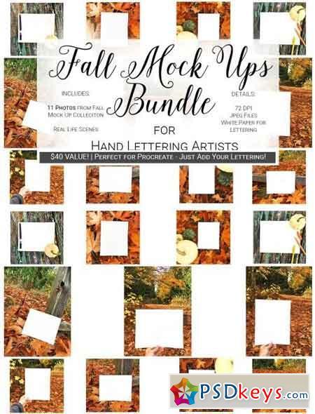 Fall Mock Up Bundle Hand Lettering 2047965