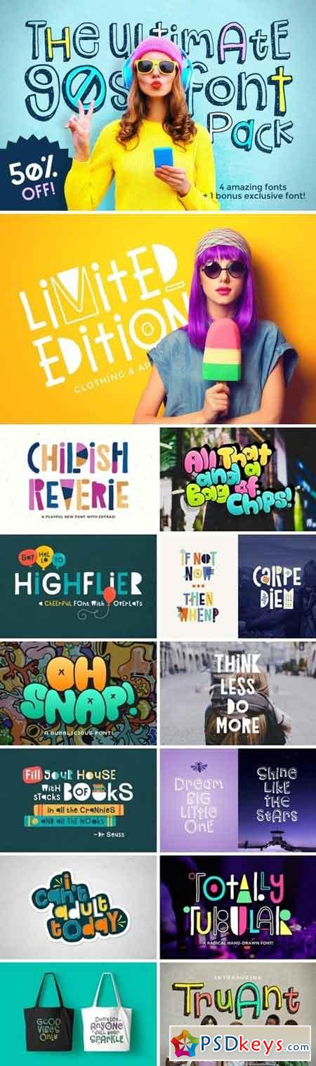 The Ultimate 90s Font Pack 1570114