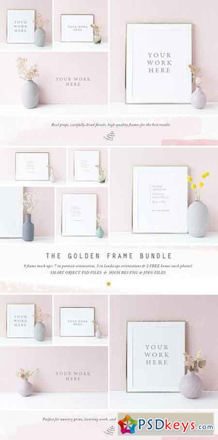 The Golden Frame mock up BUNDLE 2379362