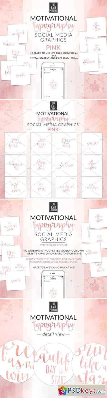 Motivational Typography - PINK 2403897