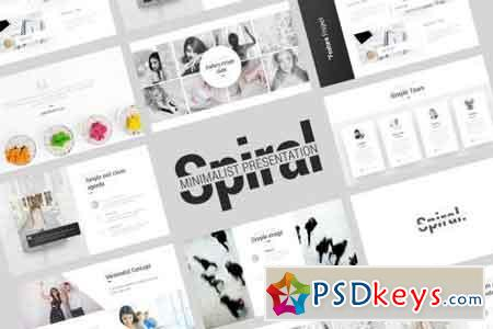 Spiral Minimalist Presentation Template