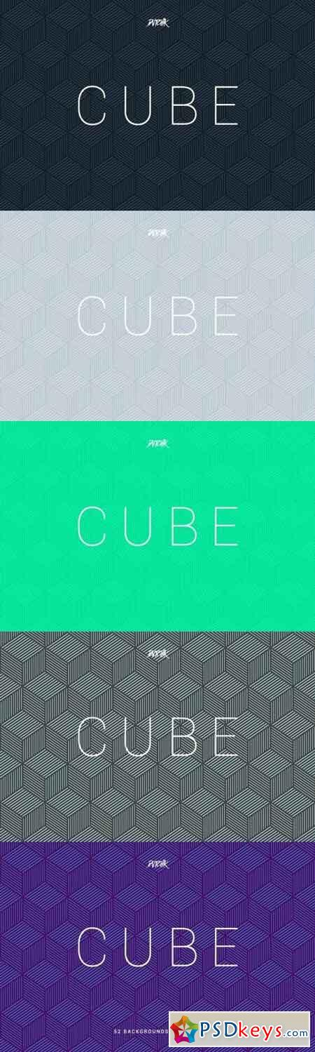 Cube Seamless Geometric Backgrounds Vol. 03