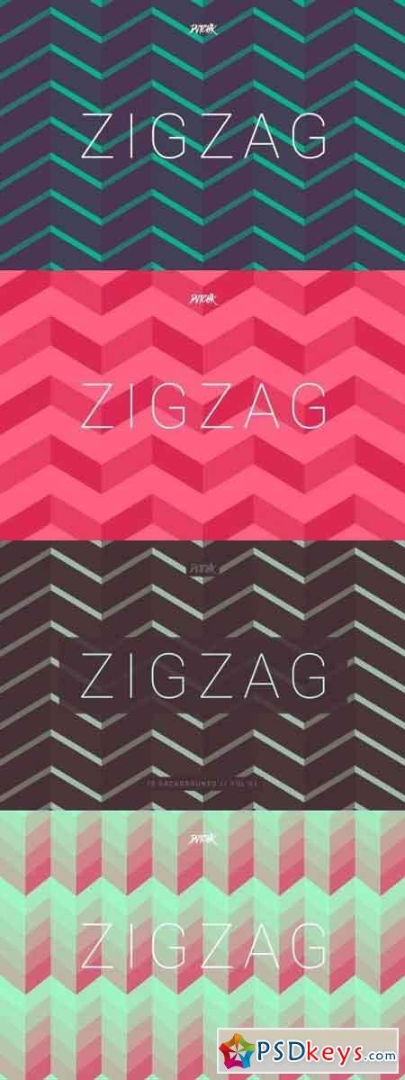 ZigZag Seamless Abstract Backgrounds Vol. 02