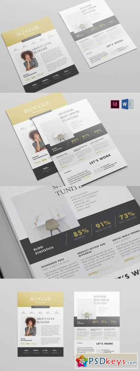 Blogger Proposal Template Free Download Photoshop Vector Stock