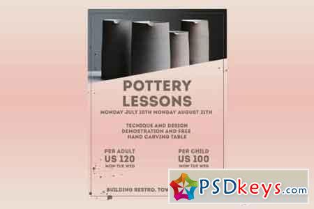 Pottery Classes Flyer Poster