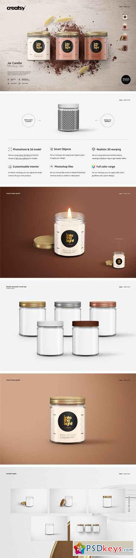 Jar Candle Mockup Set 2423694