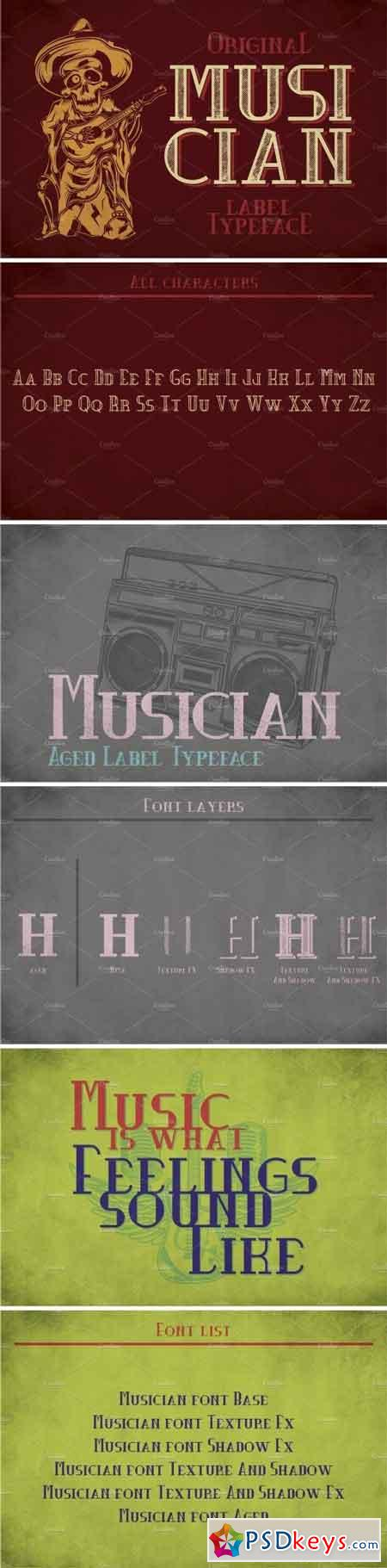 Musician Modern Label Typeface 2091540