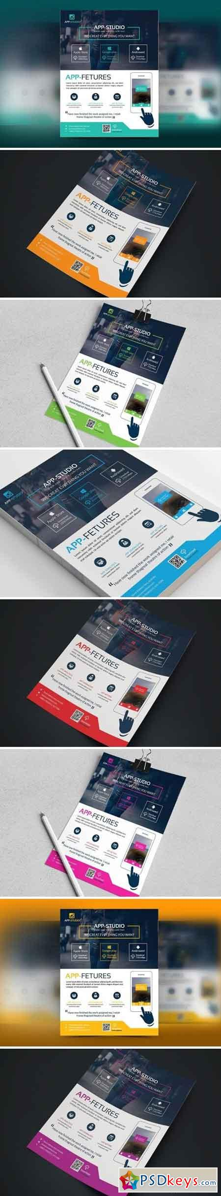 Mobile App Apps Business Flyer 1677280
