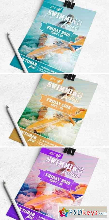 Swiming Festival Flyer Template 1680258