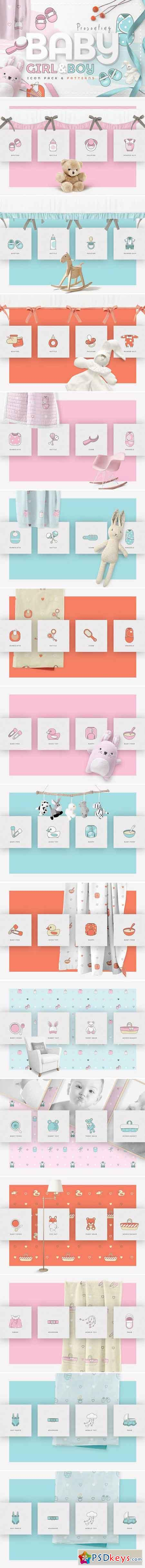Baby Girl & Boy Icon Pack 2364683