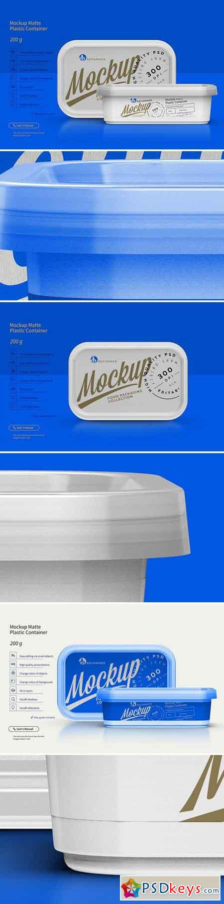 Mockup Plastic Container 200g 2403369