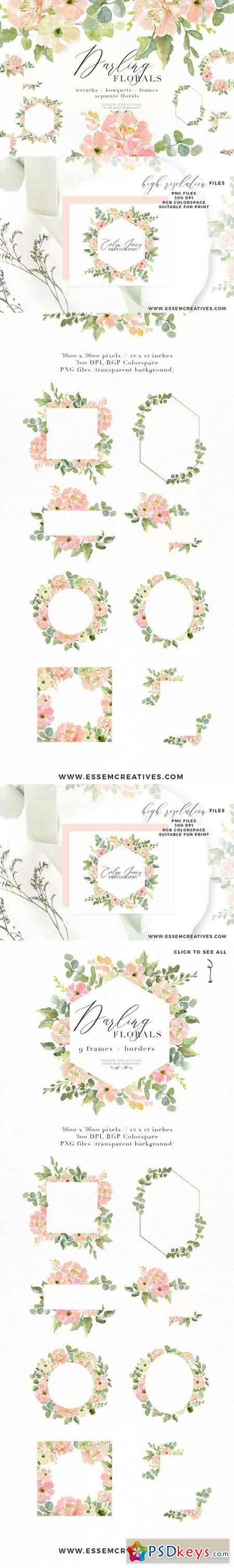 Wedding Invite Watercolor Flower PNG 2402689