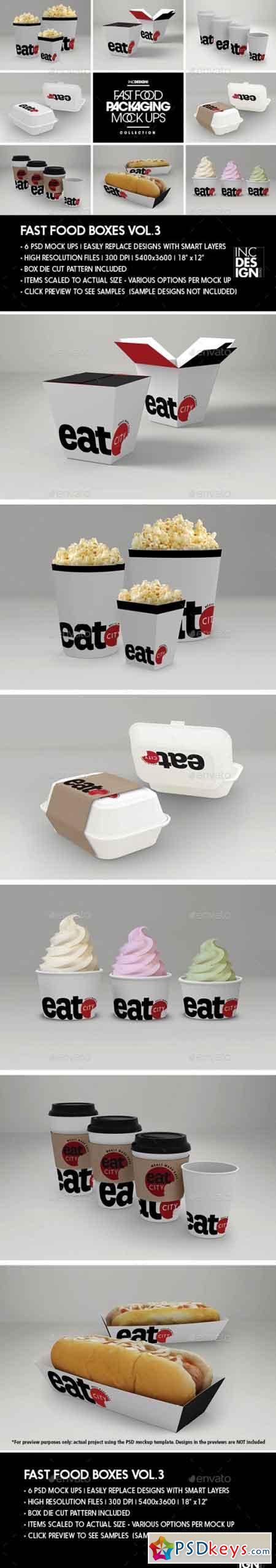 Fast Food Boxes Vol.3 Take Out Packaging Mock Ups 17838720