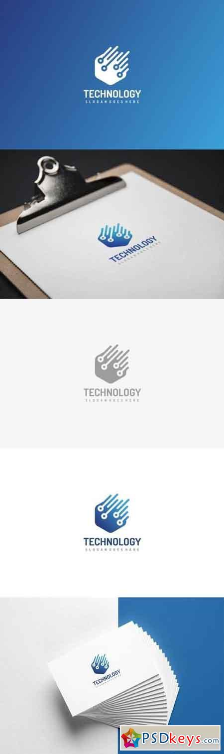 Technology Logo » Free Download Photoshop Vector Stock image