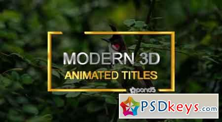 3D Animation Titles 83091796 - After Effects Projects