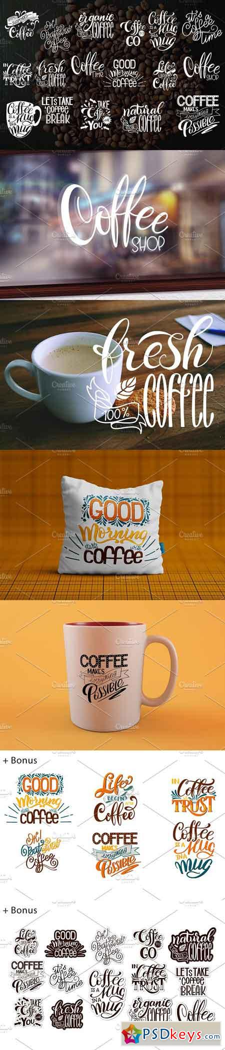 Coffee Lettering Set 2302954