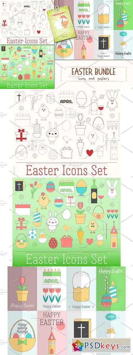 Easter Bundle - Icons and Posters 2302962