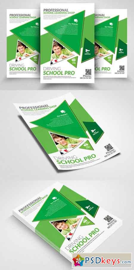Driving School Print Flyers Template 2302626