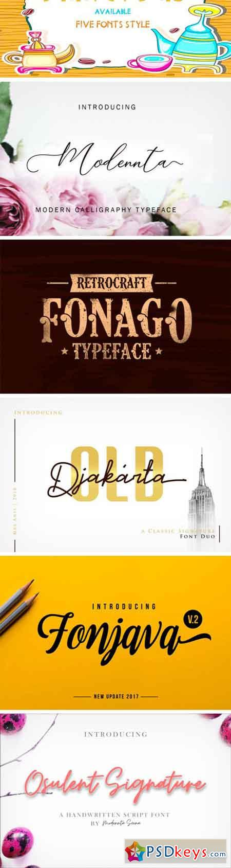 16 Premium Fonts Bundle Vol. 2