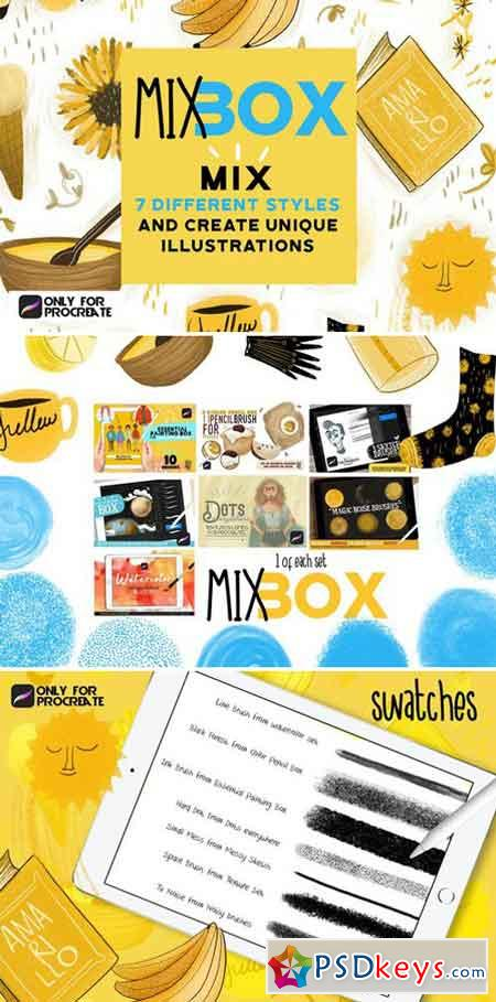 Mix Box brushes for Procreate 2430845