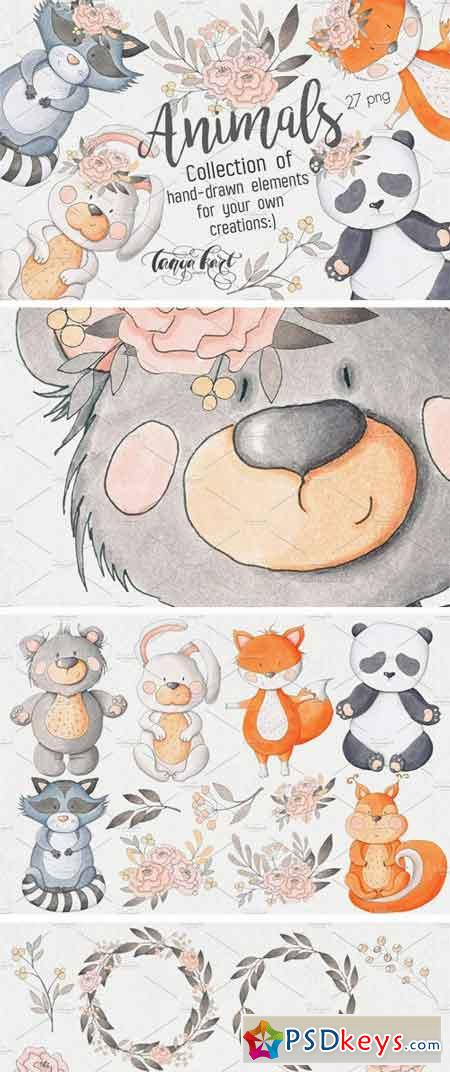 Hand Drawn Animals Collection 2422305