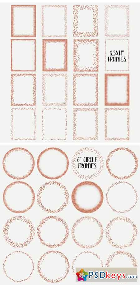 Rose Gold Glitter Frames and Borders 2422668