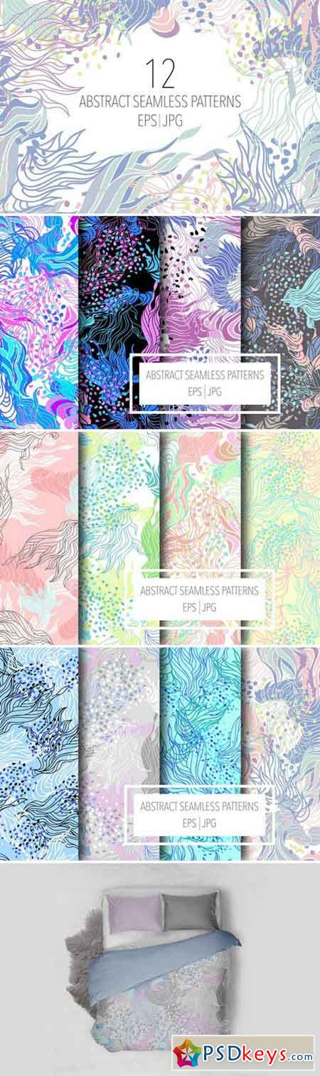 12 Abstract seamless patterns 1566321