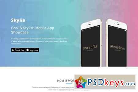 Skylia - Responsive App Landing 1602765