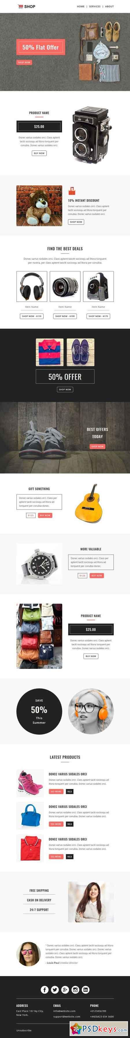 SHOPPING - Responsive Email Template 1590145