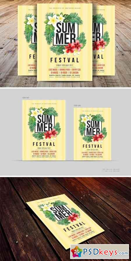 Summer Festival Flyer Template 1590337