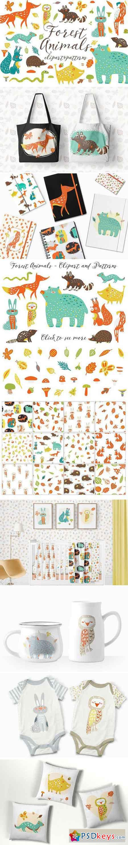 Cute Forest Animals Clipart 1551874