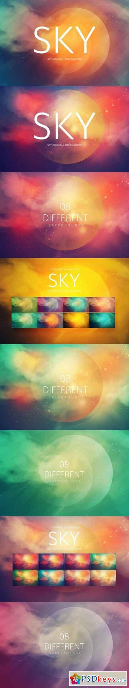 SKY Abstract Backgrounds Bundle