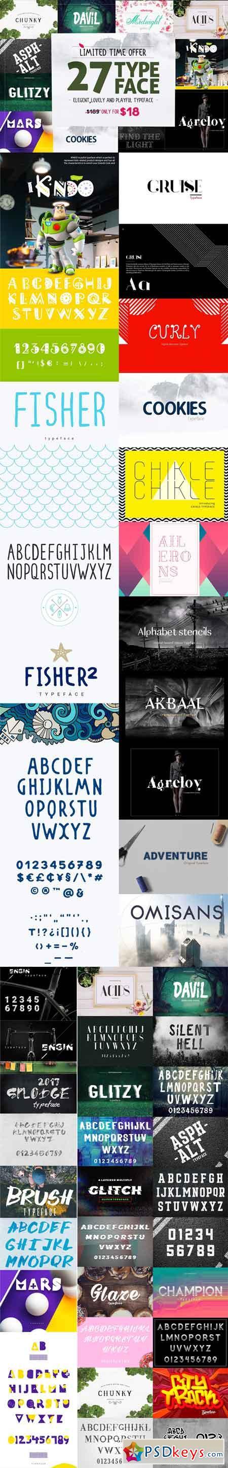 27 Typeface 2508163