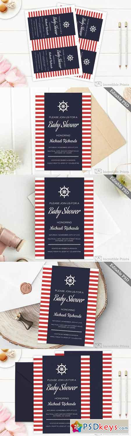 Nautical Baby Shower Invitation 2476357
