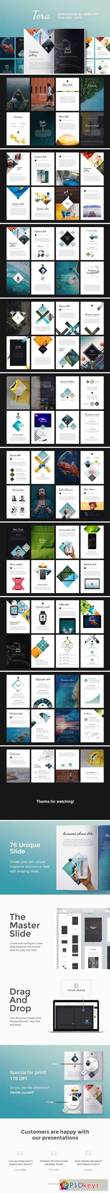 A4 Tera PowerPoint Template 2463632
