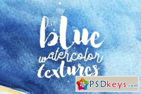 Blue Watercolor Textures Pack