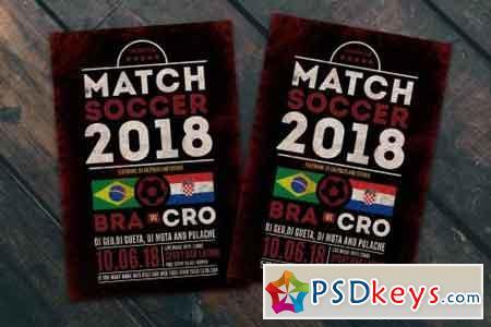 Soccer Match Flyer Poster
